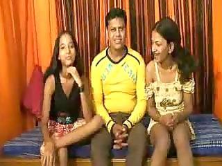 sexy threeway indian slamming