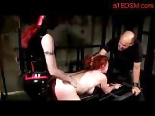 redhead gal getting her cookie drilled with dong