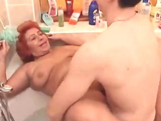 large nice-looking woman granny fuck in the tub
