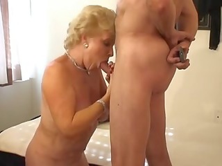 hot blonde granny smoking sex