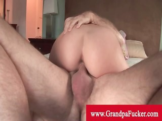 missy stone reverse cowgirl to old stud