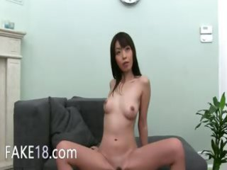 chinese gal loves unfathomable fucking on daybed