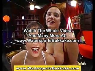 watersports loving strumpets gulp urinate