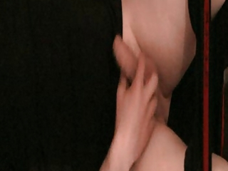 masterbating and cumming over my satin vest
