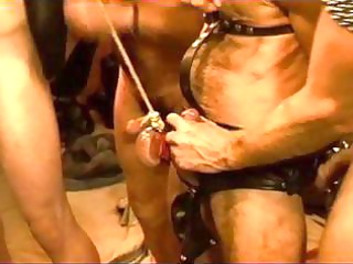 homo men are bound up and strung up as their