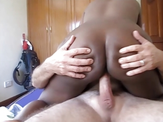 african wench getting stuffed with a white knob