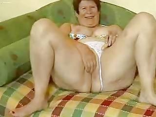 breasty granny masturbates in front of livecam