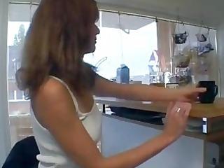 lewd german mamma in her kitchen