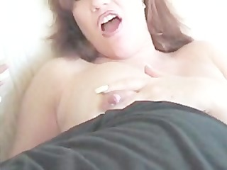 fucking a delightful granny and cum on her