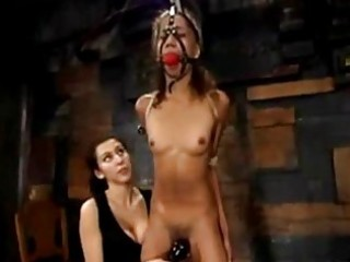 skinny latin babe gal bondaged getting her curly