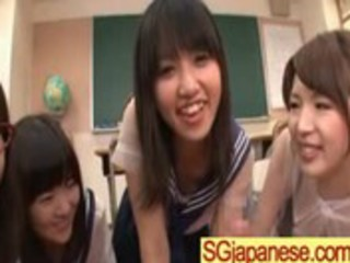 asians in school uniform acquire screwed hard