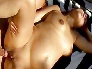 redhead preggy slut with massive stomach bonks