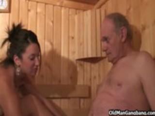hawt euro sauna team fuck