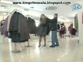 a angel is getting stripped in mall