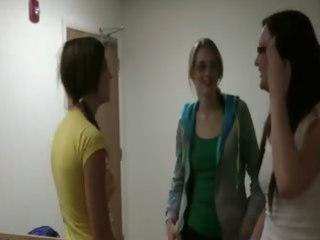 worthy college gals gangbang from pov