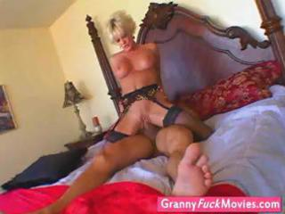 gilf still likes a hard dick in her old fur pie