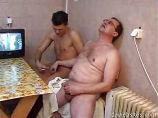 lewd stud wanking his penis and cute chaps at a