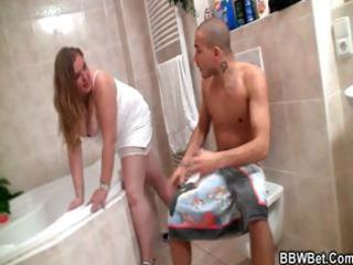 he is nails her plump cookie in the washroom