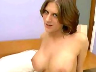breasty eve lawrence plays on shlong