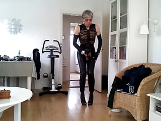 sissy hawt leather beauty 0