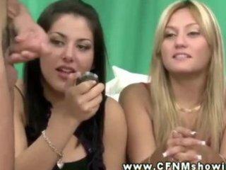 femdom cfnm chicks select shlong to jerk and