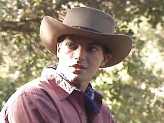 cowboy homosexual fellows expiriencing outdoor sex