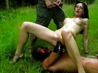 fisting and pissing on my girlfriend outdoors