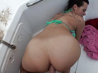 hawt non-professional mandy st time anal on boat