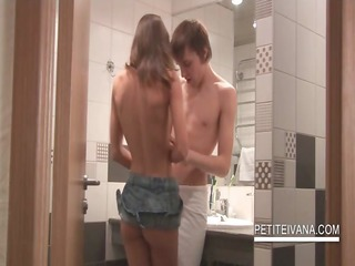 naughty legal age teenager ivana blowing schlong