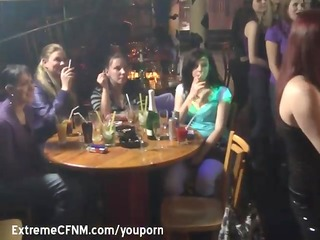 redhead engulfing pecker in a party