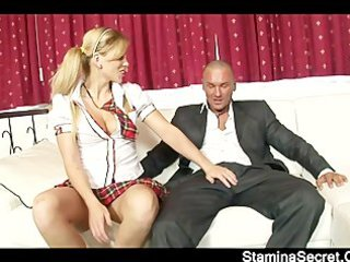 juvenile blond try a biggest shlong on her taut