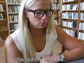 schoolgirl dilettante anal in the library