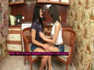 raina and ayane lusty lesbian cuties fingering