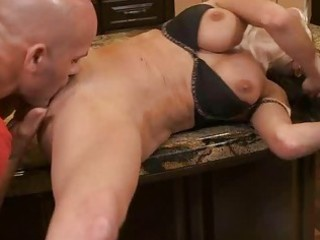wang stuffs face hole and pussy