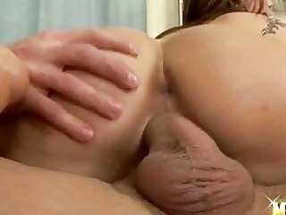 hot hottie satin bloom rides her cunt on a rock