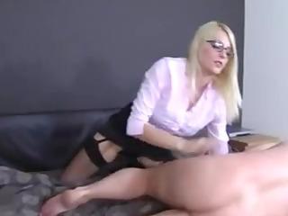 femdom-goddess in stockings leg and foot fetish