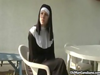 sinful nun dissolute and drilled