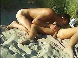 .... a sexy porno on the beach