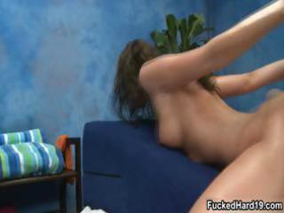supple dark brown beauty acquires drilled part0
