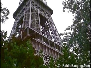 trio near the eiffel tower by those brave and