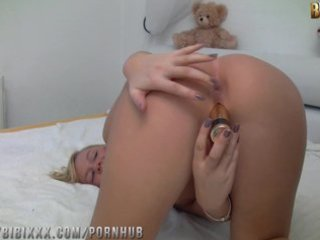 bibixxx - double penetration mit sex-toy und